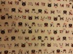 FRENCH BULLDOG COTTON LINEN MIX - Fabric 80% Cotton 20% LINEN - Price Per Metre